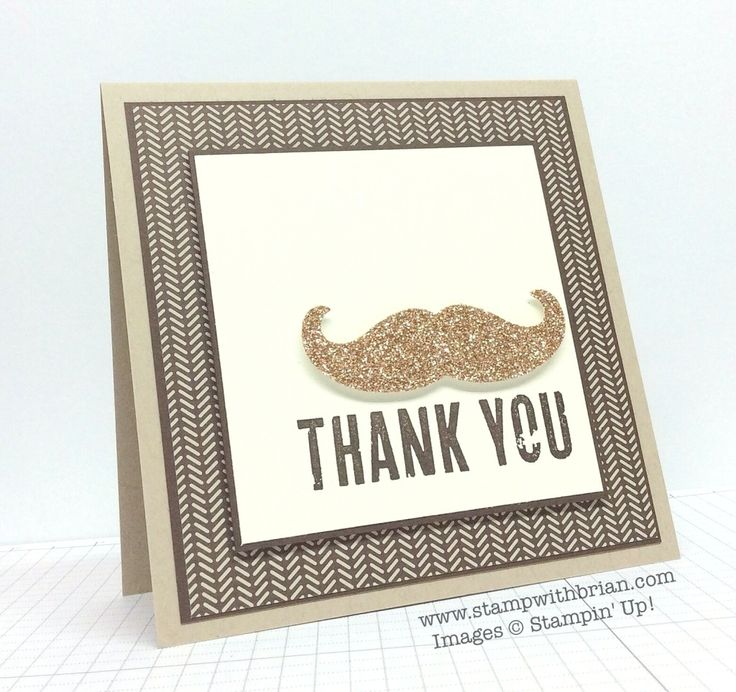 Dude You're Welcome, Mustache Framelit, Stampin' Up!, Brian King