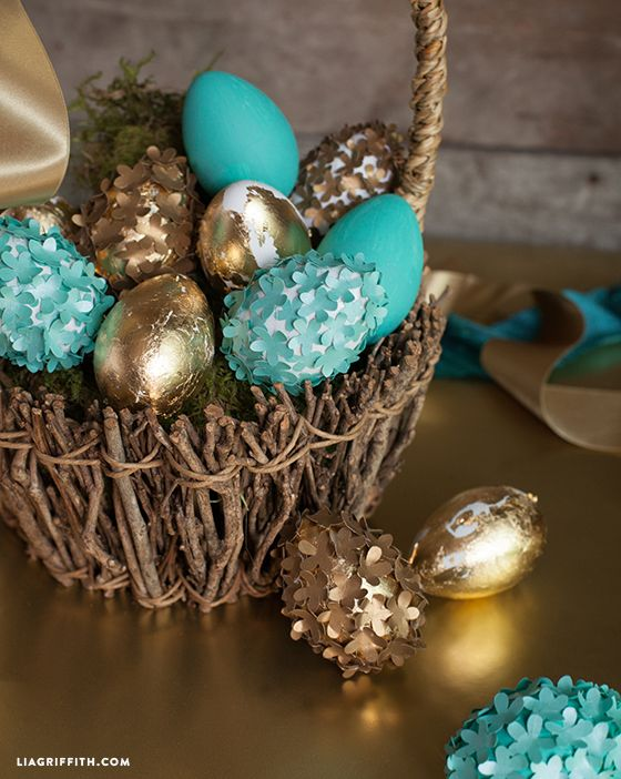 Foiled Flower Elegant Eggs DIY