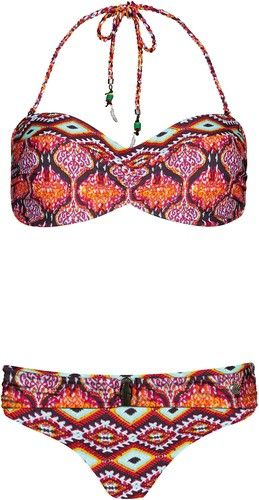 Beachlife Beachlife Bandeau Bikini Damen rot
