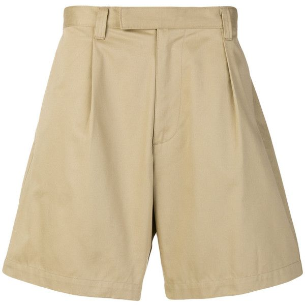 E. Tautz tailored shorts (509.400 COP) ❤ liked on Polyvore featuring men's fashion, men's clothing, men's shorts, mens cotton shorts and mens tailored shorts