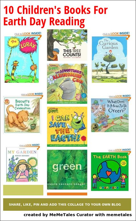 Collage Details - 10 Children's Books For Earth Day Reading