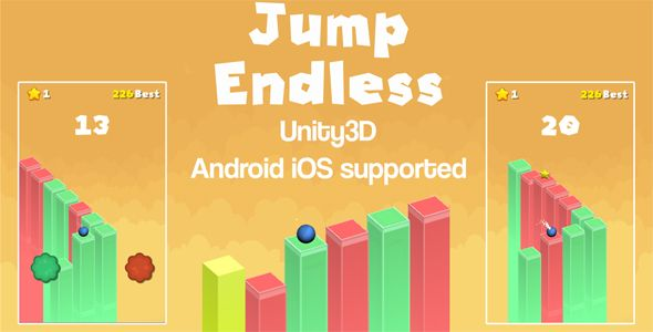 Jump Endless Unity3D Source Code + Android iOS Supported +