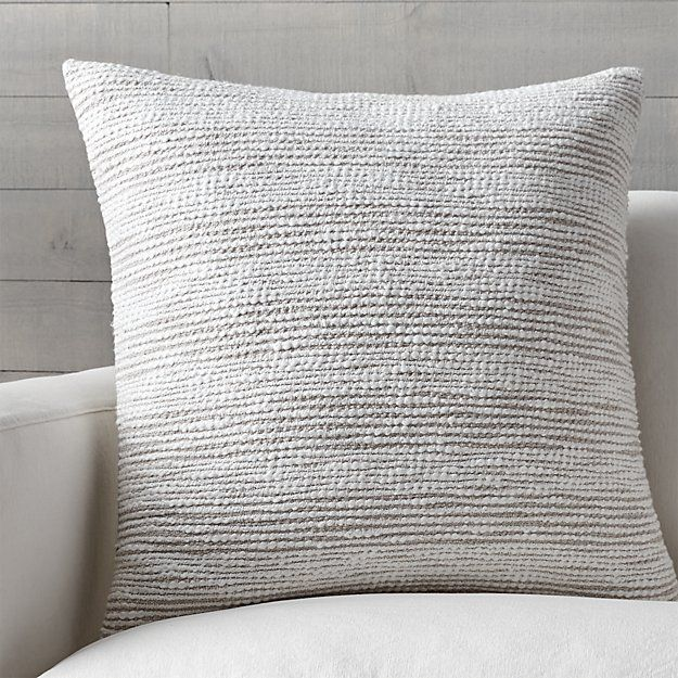 soft decorative pillows. Shop Tess Pillow with Feather Down Insert  Thick and thin yarns are intermittently woven together to create soft textural stripes 262 best Toss images on Pinterest Cushions Alternative