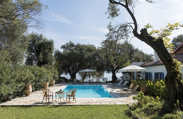 House on the Sea Barbati, Nissaki, Spartilas & Gouvia Sleeps up to 10. With its dining terrace right at the water's edge, and a gate from the garden directly on to the shore, this is a fabulous family villa in Corfu, imbued with an air of total relaxation