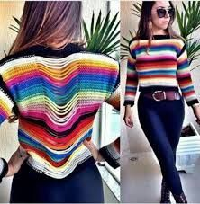 Resultado de imagem para blusa colorida