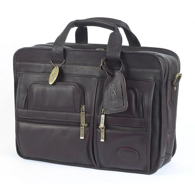 Italian leather executive briefcase