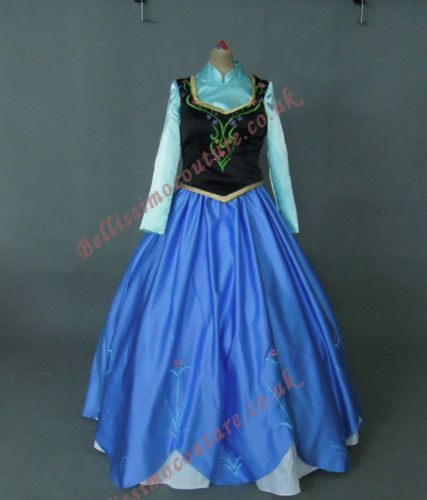 Disney Frozen Princess Anna Costume Adult Size 6 8 10 12 14 16 Anna Dress | eBay
