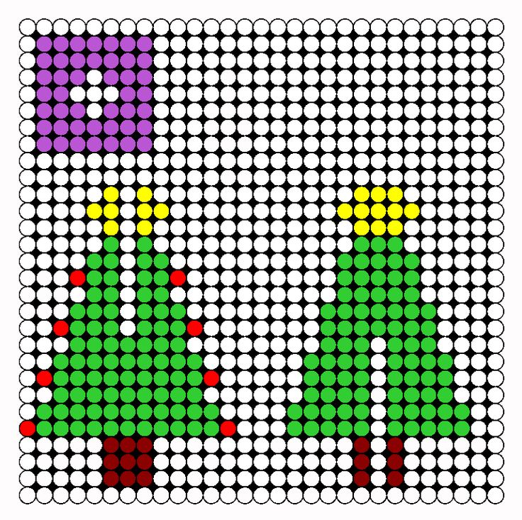 3D Christmas Tree Perler Bead Pattern