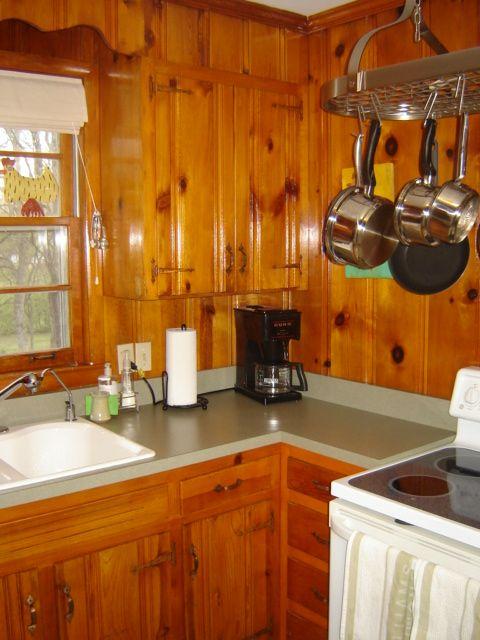 1950s knotty pine kitchens  Wood Paneled Wonderland