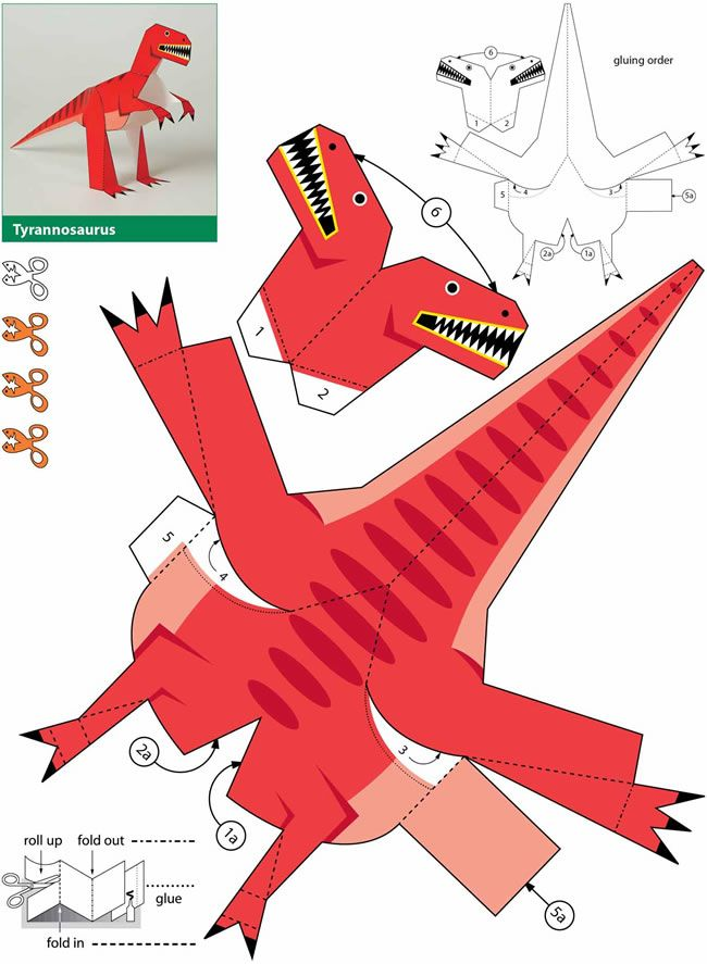 Dinosaurs: Kiragami for Kids: Easy-to-Make Paper Toys 3