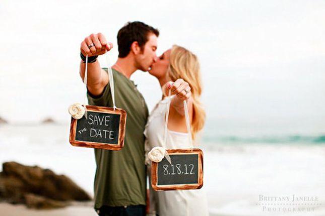 Save the date romantic idea!