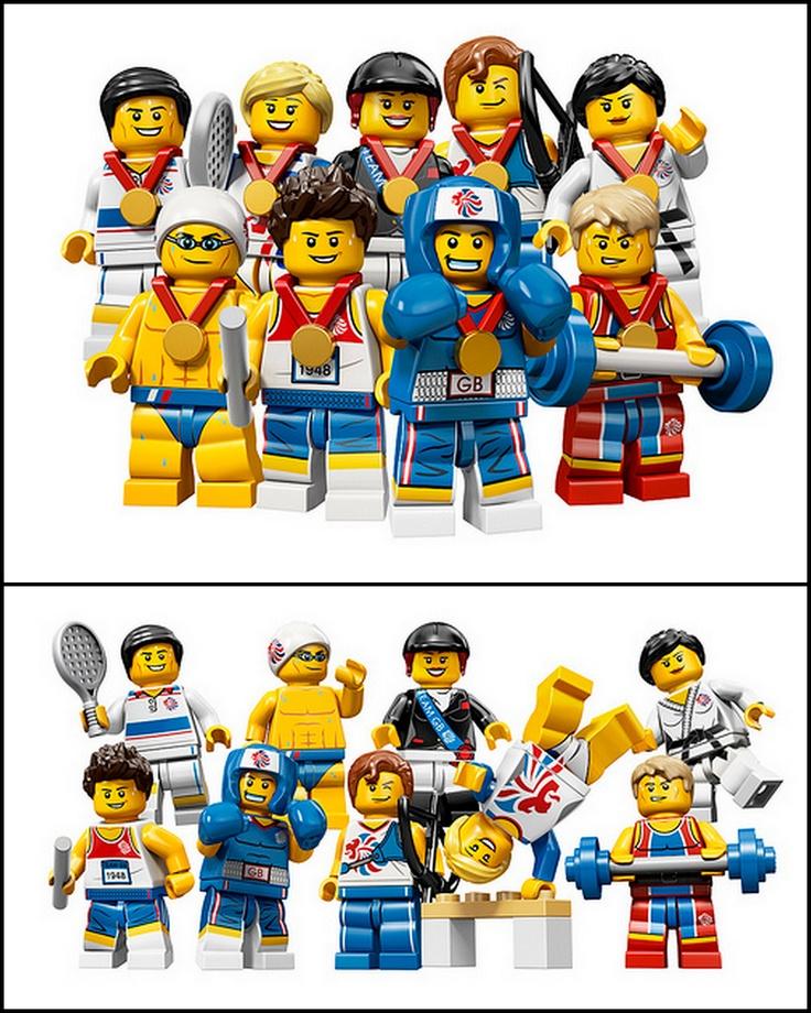 Team GB LEGO Minifigures (London 2012 Olympic Games)