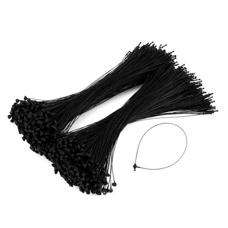 1000 Pcs Black Snap Lock Pin Security Loop Plastic Tag Fastener Hook Ties