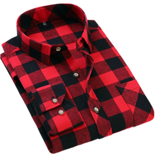 We love it and we know you also love it as well Men Slim Fit Shirt Spring Autumn Classic Flannel Men Plaid Shirt Long Sleeve Men's Warm Casual Shirts camisa social masculina just only $13.88 with free shipping worldwide  #shirtsformen Plese click on picture to see our special price for you
