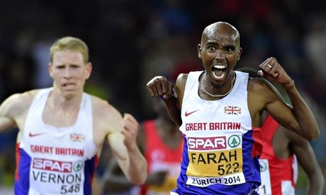 Mo Farah takes 10,000m gold at European Championships