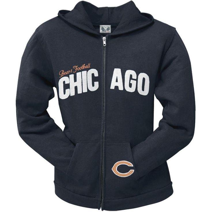 Chicago Bears - Pep Rally Premium Juniors Full Zip Hoodie