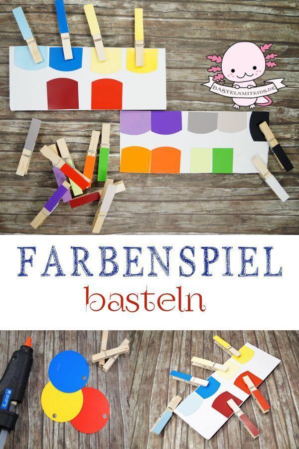 Farben lernen mit selbst gemachtem Spiel – Unverbogen Kind Sein