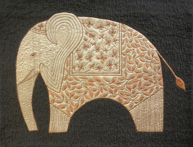 Bronze Elephant by Mairi Wheeler. Uncommon Ground. An exhibition of textile art by Freewheeling 2012
