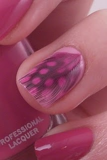 Inlaid Pink+Black Spotted Guinea FeatherPolish Art, Nails Art, Pink Feathers, Pink Polish, Art Addict, Hot Pink, Nails Polish, Crafts Stores, Feathers Nails