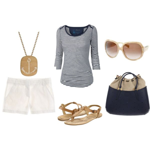 """""""Summer Casual/Nautical Feel"""" by adagrace on Polyvore"""