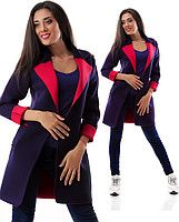 Пиджак 1732 фиолетовый красный ИК-1732