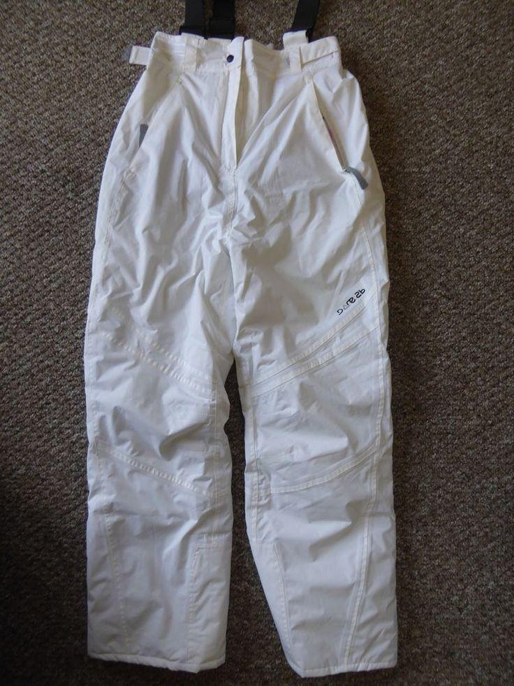 "Dare 2b isotex 5000 Women's Ski Snowboard Trousers White 26"" Eur 164 #Dare2B"