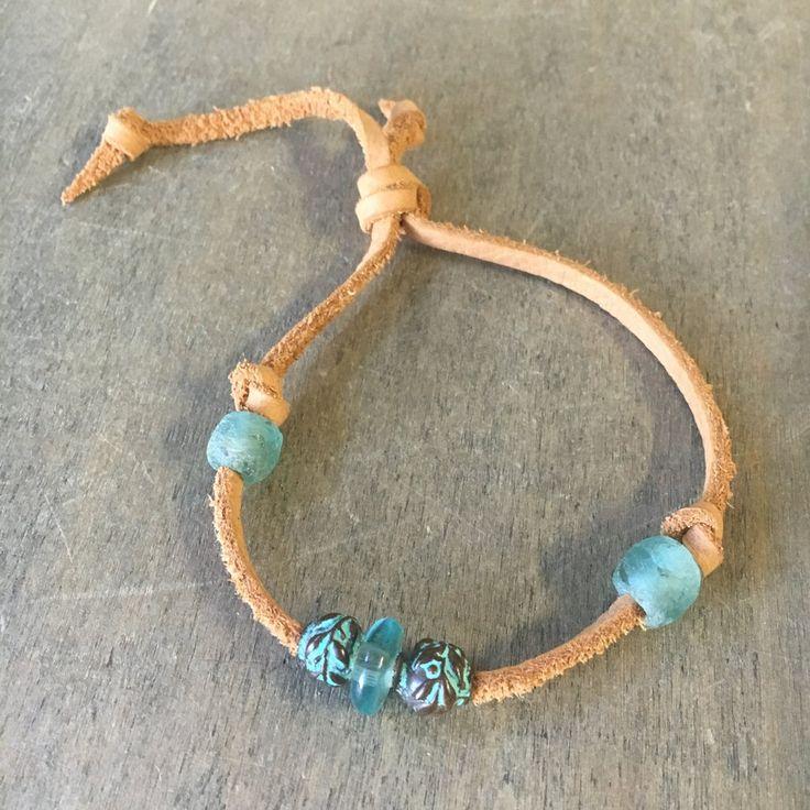 Seaglass Beach Slip Knot Anklet
