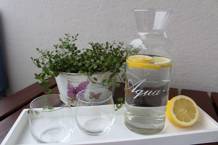 Karaffe Glas Wasserkrug Saftkrug Krug 1 Liter Höhe 25cm