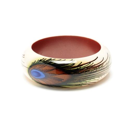 peacock bracelet: Peacock Feathers, Willa Bangle, Peacock Bracelet, Pretty Peacock, Things Peacocks, Jewelry, Bangles, Bangle Bracelets, Peacock Bangle