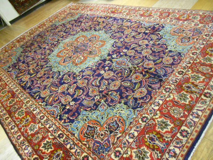 Super Fine 1960s Persian Classic GHOM QOM Rug 10x14 | eBay