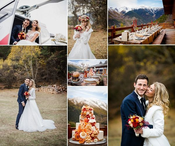 Romantic Autumn Wedding in French Mountains Snapshot | Images by Magali Tarasco Photographer and Ekaterina Kurilovich Photographer   #france #frenchwedding #mountains #bride #groom #autumn #autumnwedding #fallwedding #outdoorwedding