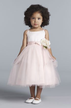Please help!!  What color flower girl dress?!  Blush pink or ivory? :  wedding Flower Girls Us Angels 101 Large