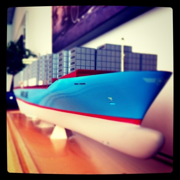 Emma Maersk scale model, approx. 1 meter long.