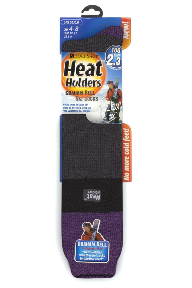 Ladies Ski Heat Holders - Purple/Black/Charcoal