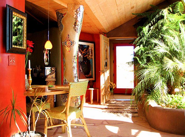 Inside Solaria Solaria Earthship Taos New Mexico