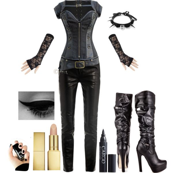 Kenzi from Lost Girl by kelly4607 on Polyvore featuring Yves Saint Laurent, JustFabulous, AERIN, CARGO and Chanel