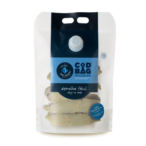 Cod Bag ® Codfish Loins, with bone (1kg) - Terra do Bacalhau