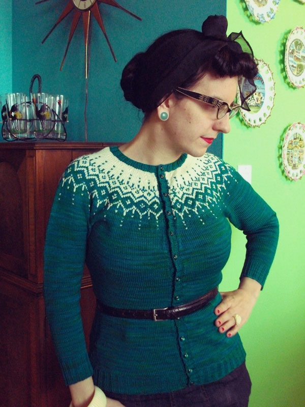 Colourwork cardigan. I want to be good enough at knitting ...