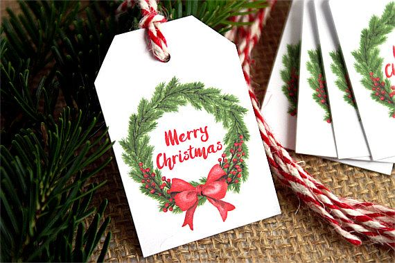 Christmas Tags - Merry Christmas Labels - Christmas Gift Labels - Christmas Gift Tags - Christmas Tags by TrocaderoKraft on Etsy