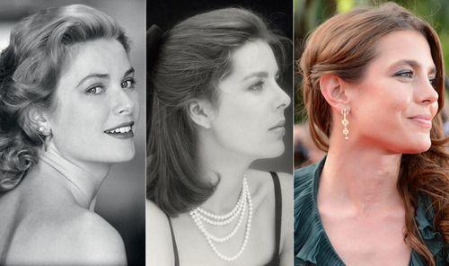 La princesa Grace, la princesa Carolina de Mónaco y Hannover y la señoritaCharlotte Casiraghi (izq - der).