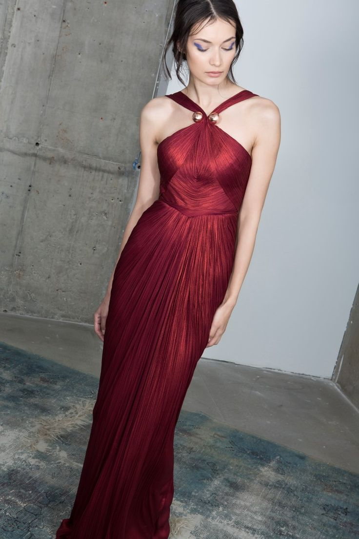 Scarlet gown