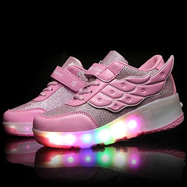 LED+Light+Up+Shoes,+Girls'+Shoes+/+Casual+Roller+Skate+Shoes+/+Fashion+Sneakers+Pink+/+Black+and+Red+/+Black+and+White+–+AUD+$+34.73