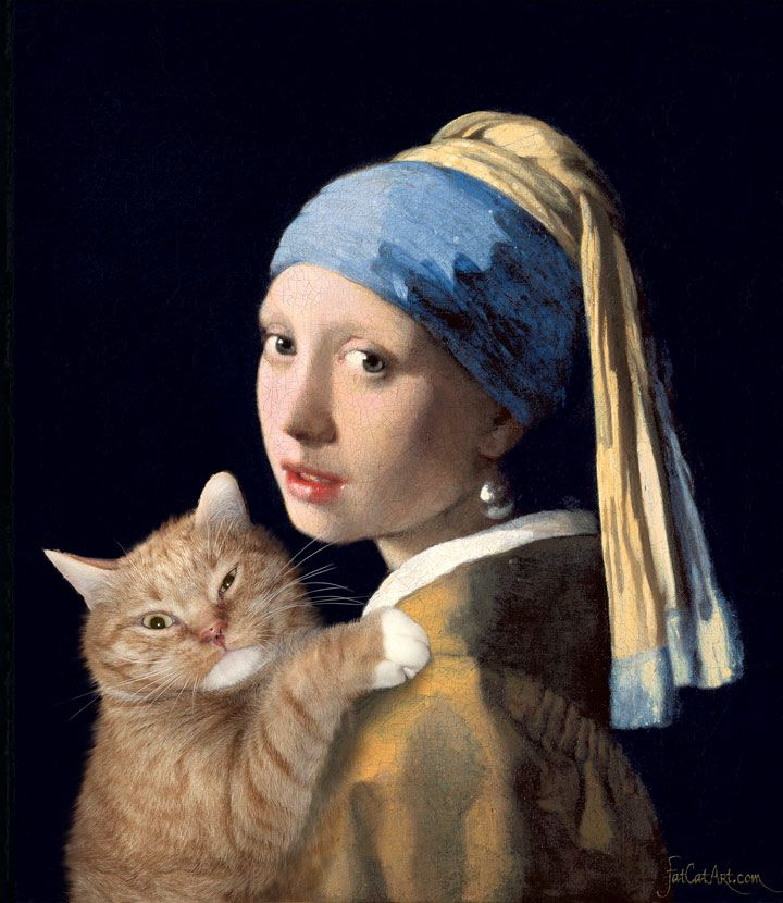 FatCatArt - Famous Paintings Improved by Cats