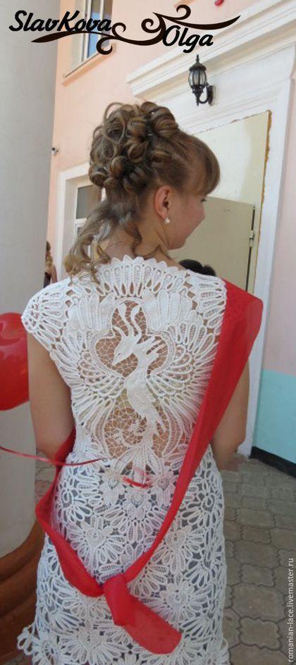 """Платья ручной работы. Ярмарка Мастеров - ручная работа. Купить Платье """"Жар-птица"""". Handmade. Белый, кружевное платье, хлопок"""