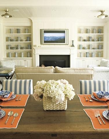 Dining Room Wall Decor Ideas  Incorporating Corner Tv