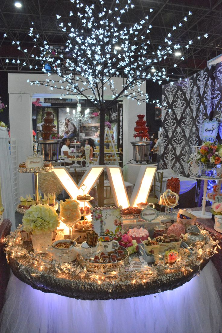 Raquel loves the XV on this candy table!!   #mesadedulces #candy…