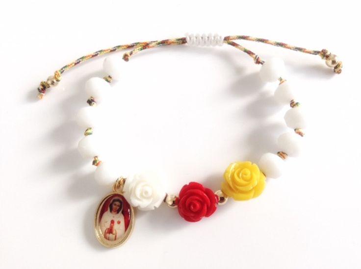 Maria Rosa Mistica adjustable bracelet Más