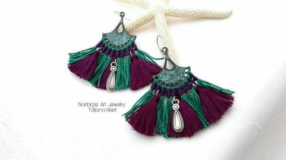 Hey, I found this really awesome Etsy listing at https://www.etsy.com/listing/492874960/macrame-earrings-patina-macrame-earrings