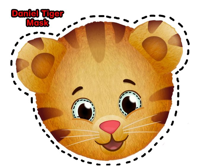 Daniel Tiger DIY costume plus downloadable mask.