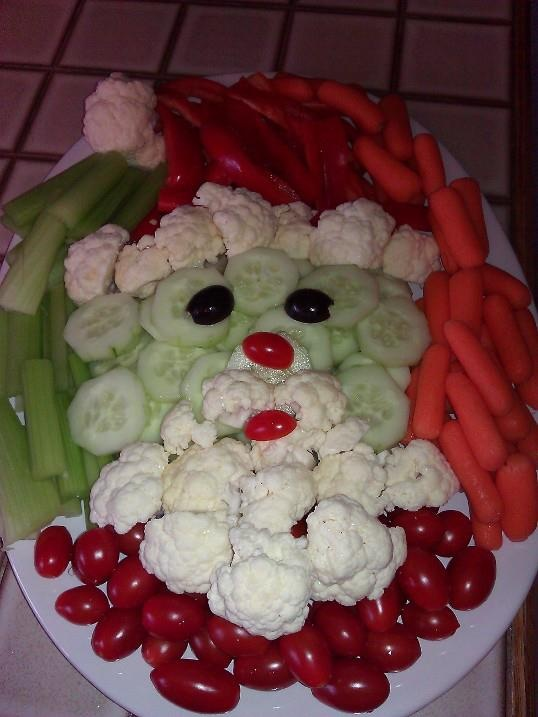 Incredible Veggie Santa!!